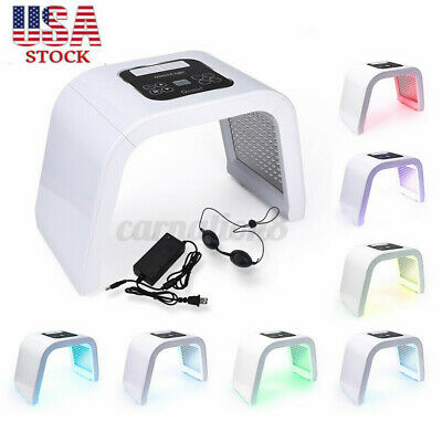 7 Color LED Light Photon Therapy Face Facial Beauty Skin Therapy Wrinkle  J
