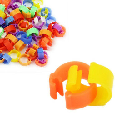 100pcs Birds Plastic Pigeon Color Randomly Poultry Leg Rings Clip Rings