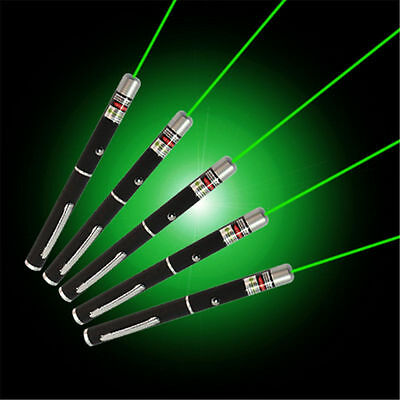 5pcs Lazer High Power 5mW 532nm Powerful Green Laser Pointer Pen Beam Light
