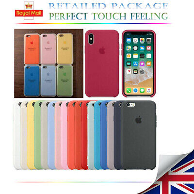 For APPLE SILICONE Case iPhone X XR XS MAX  8 7 Plus Liquid Rubber Boxed Cover
