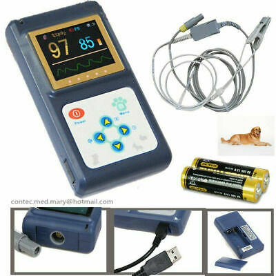 Dog Cat Veterinary Pulse Oximeter Tongueear Blood Oxygen Meter Spo2 Pr Monitor