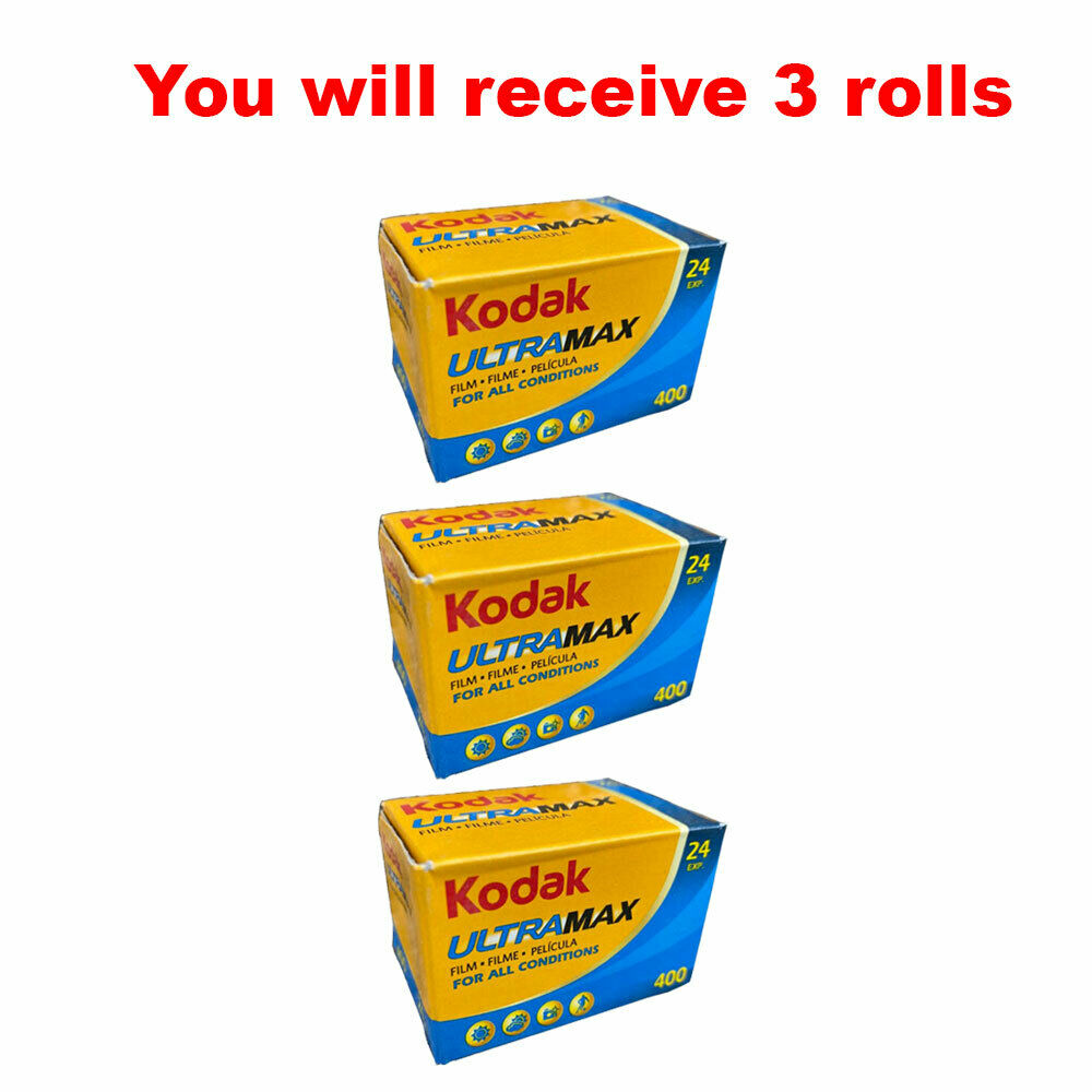 3 rolls ultramax 400 35mm film gc24