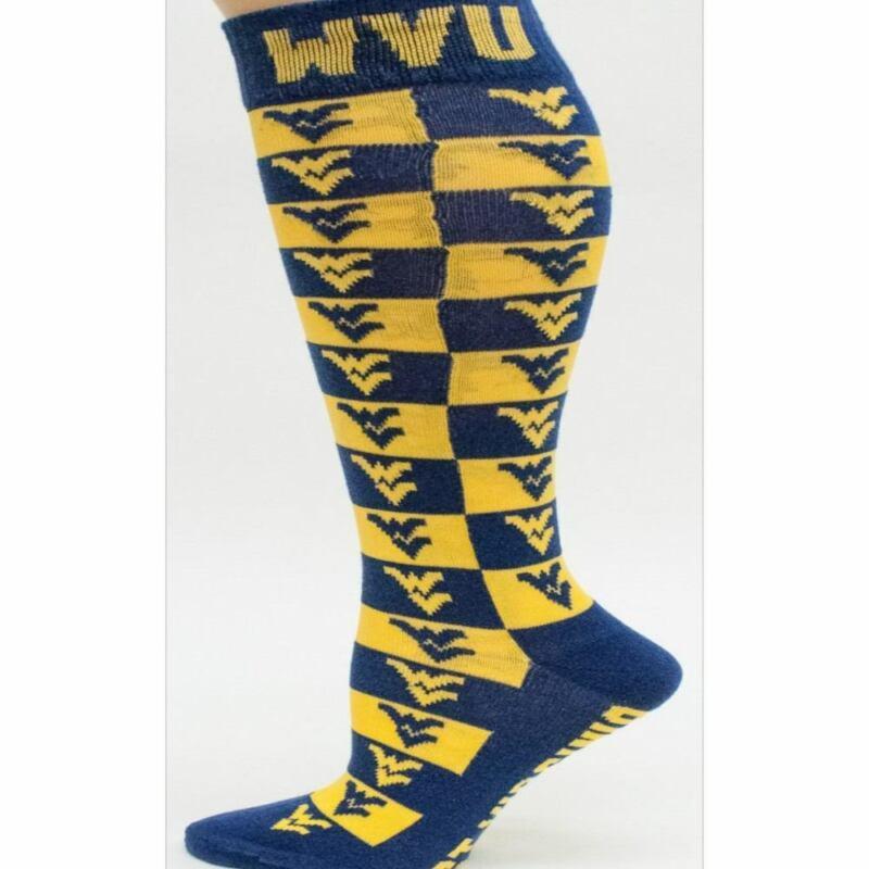 WVU Checkerboard Dress Socks