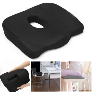Orthopedic Seat Memory Foam Cushion Back Lumbar Tail Bone Coccyx Pain Relief Car
