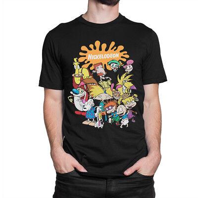 Old School Nickelodeon Cartoons T-Shirt, Ren & Stimpy, Arnold, Rocko, All Sizes