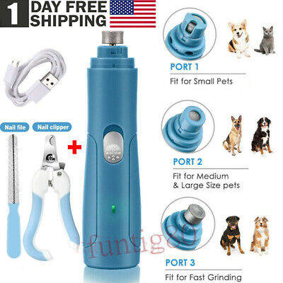 USB Electric Nail Grinder Cat Dog Pet Paw Grooming Trimmer Tools File Clipper