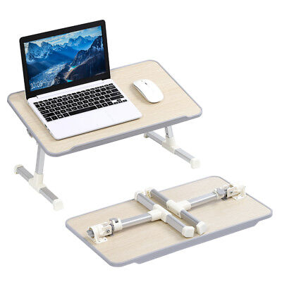 Height Adjustable Tilting Laptop Desk Table Bed Tray Foldable Stand Book Food
