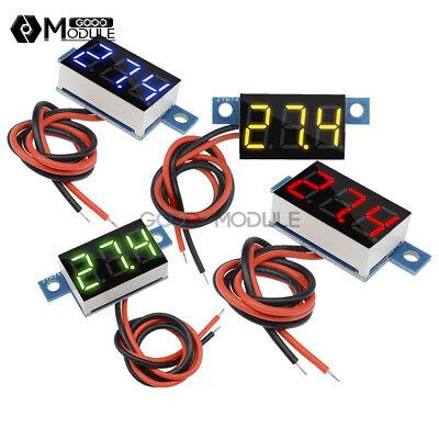 3.3-17v 3 Led Redblueyellowgreen Panel Meter Mini Lithium Battery Voltmeter