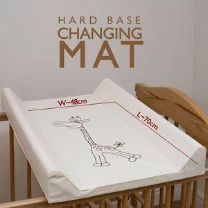 HARD BASE CHANGING MAT FOR COT TOP / CHANGER STATION 50x70cm - Giraffe
