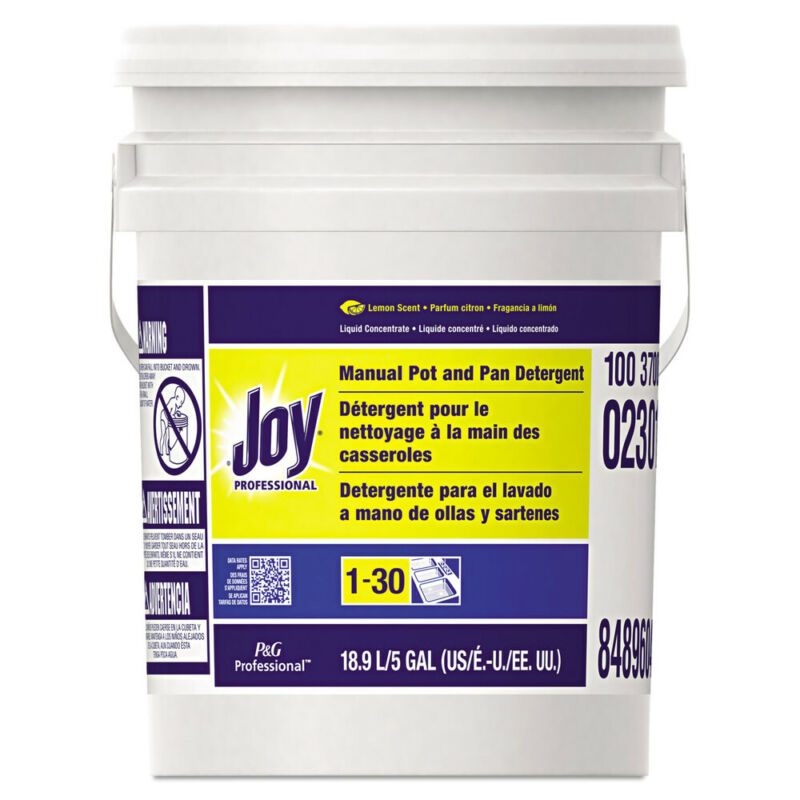 P&G Professional Dishwashing Liquid, Lemon, Five Gallon Pail  2301 New