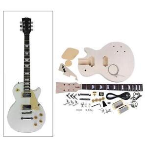 LP Style Electric Guitar DIY Kit Set Mahogany Body Rosewood Fingerboard 3DF4