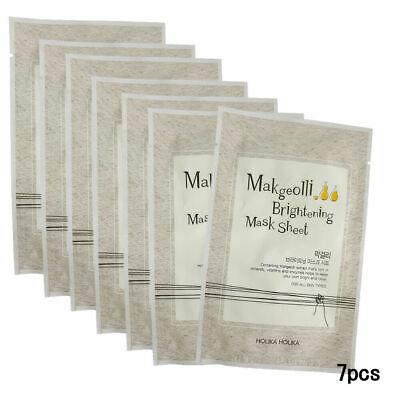 Holika Holika Makgeolli Brightening Mask Sheet 20ml 7pcs Free gifts