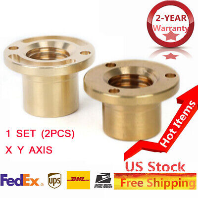 100 New Milling Machine Part-longitudinal Brass Feed Nut X Axis Y Axis 23mm 2pc