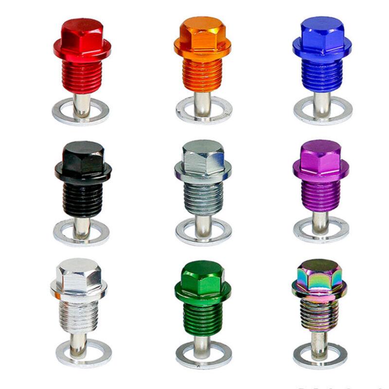 1x M14*1.5 Colorful Aluminum Magnetic Oil Drain Plug Bolt Sump Nut 3.7 x 2cm