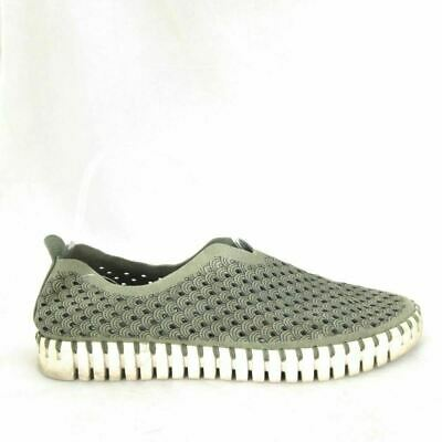 12 - Ilse Jacobsen Olive Green Scalloped Tulip Perforated Sneakers 0000MB