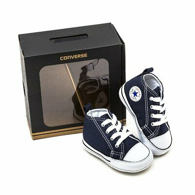 Converse Chuck Taylor First Star Hi Infant Soft Sole Sneaker Navy Canvas 2, 3, 4