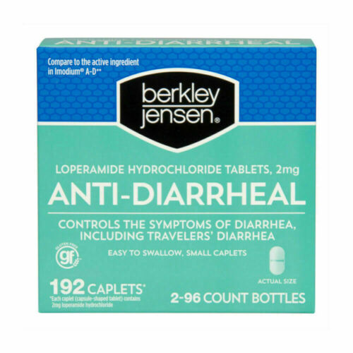 Anti-Diarrheal Berkley Jensen 2mg Caplets - 192 Count