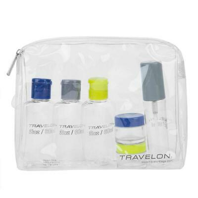 Travelon 1 Quart Zip Top Bag with Bottles, Clear, One Size  1 Quart Zip Top Bag