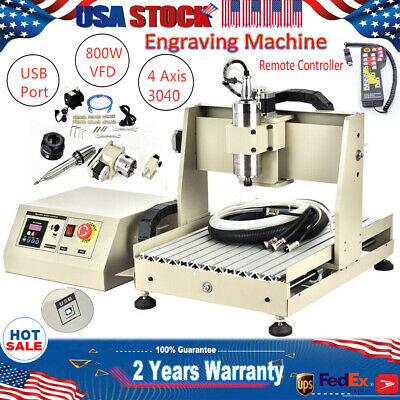 Usb 4 Axis 800w Engraving Machine Cnc 3040 Router Drill Cuttermanual Controller