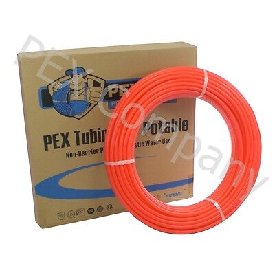 Red 34 X 100 Ft Pex Potable Water Tubing Pipe Tube O