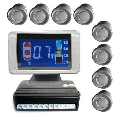 Einparkhilfe mit 8 A-Class-Sensoren: 4 vorne und 4 hinten silber LCD-Display