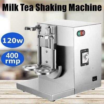Bubble Boba Milk Tea Shaker Machine Auto Shaking Mixer Doubleframe Control Cream