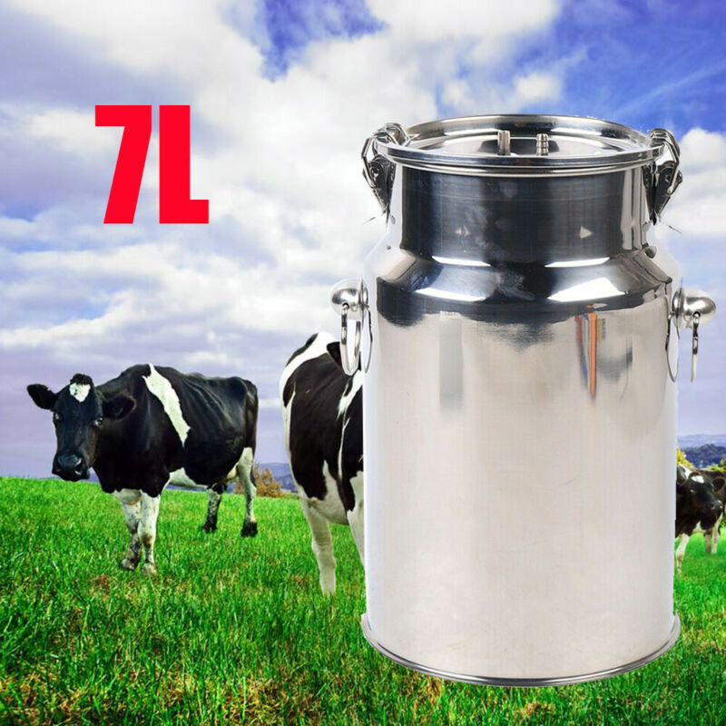 Electric Cow Milking Machine 7L Cow Goat Sheep Milker With vacuum pressure pump