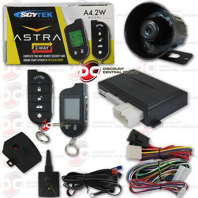 SCYTEK ASTRA A4.2W CAR ALARM SYSTEM WITH ENGINE REMOTE START LCD 2-WAY REMOTE