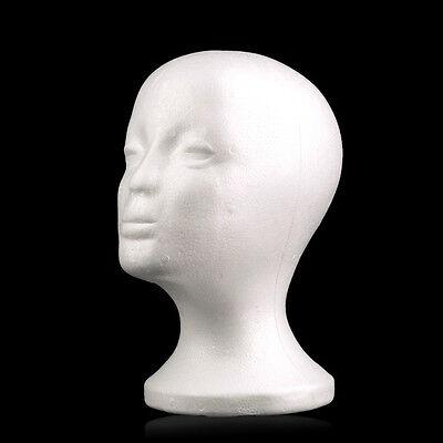 Styrofoam Wig Foam Wig Heads Foam Mannequin Manikin Head Model Wig Hair