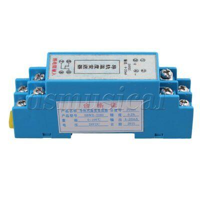 Rtd 0-100 Celsius Din Rail Type Temperature Sensor Transmitter 420ma Output