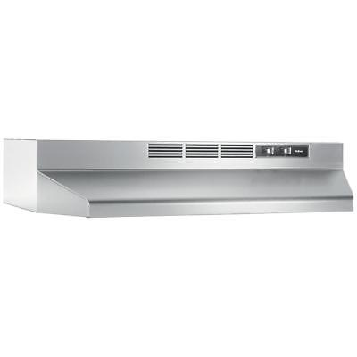 Under Cabinet Range Hood 30 in. Efficient Non-Vented Lighted Stainless Steel