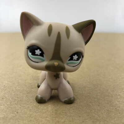 Shop For Kid (Littlest Pet Shop LPS #468 Brown Cat Kitty Doll Rare Collection Toy Gift For)
