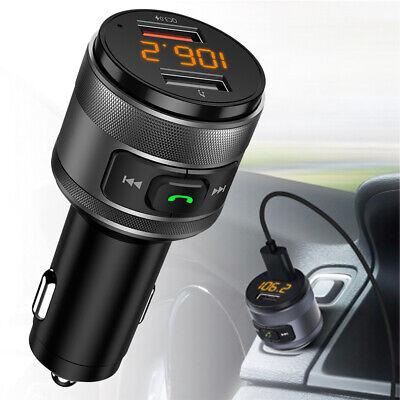 Wireless Bluetooth 5.0 FM Transmitter QC3.0 Radio AUX Adapter Car Kits Charging