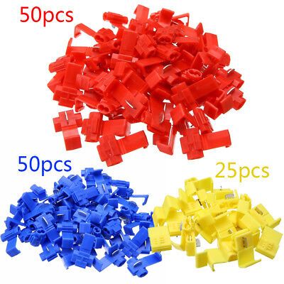 125x All Sizes Quick Splice Tap Wire Connectors 12-10 16-14 22-18 Gauge Redblue