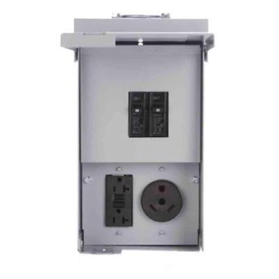 2030-amp 2-spc 120240-volt Unmetered Rv Motor-home Outlet-box Tt-30r 5-20r2gfi