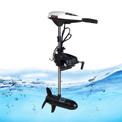45LBS Compact Kayak Electric Outboard Trolling Motor Boat Dingy Canoe Thrust TOP