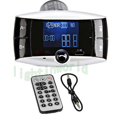 Car Kit FM Transmitter Bluetooth Modulator Wireless MP3 Player USB SD w/ Remote on Rummage