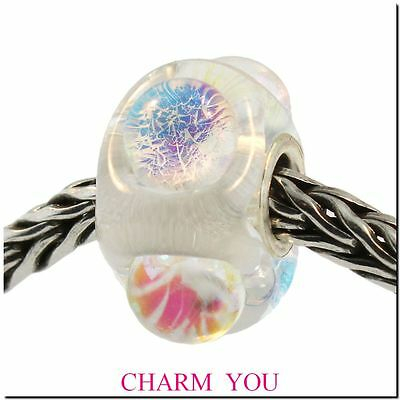 - AUTHENTIC TROLLBEADS 62014 Dichroic Ice Glass Bead