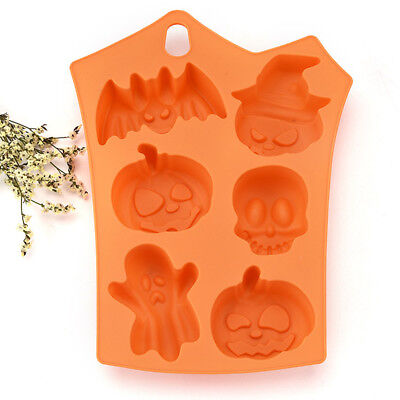 Happy Halloween Silicone Mold Creative Pumpkin Kitchen Bread Cake Decor Tools (Halloween Pumpkin Bread)