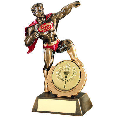 Multisport Super Hero Award Any Activity Novelty Fun Trophy - FREE Engraving