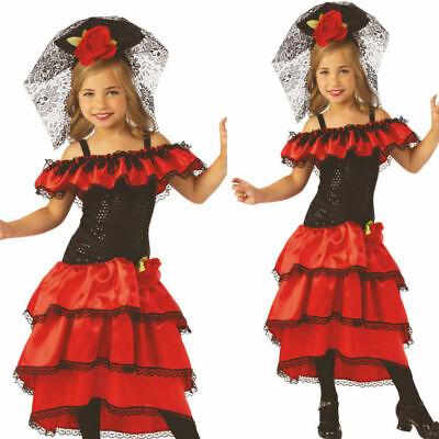 Mädchen Flamenco Tänzer Kostüm Buchwoche Tag Spanische Kinder - Tänzer Outfits Kostüme