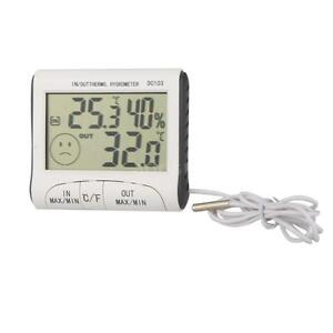 Digital Thermometer Hygrometer Max Min Temperature Humidity Indoor Outdoor 1IC3