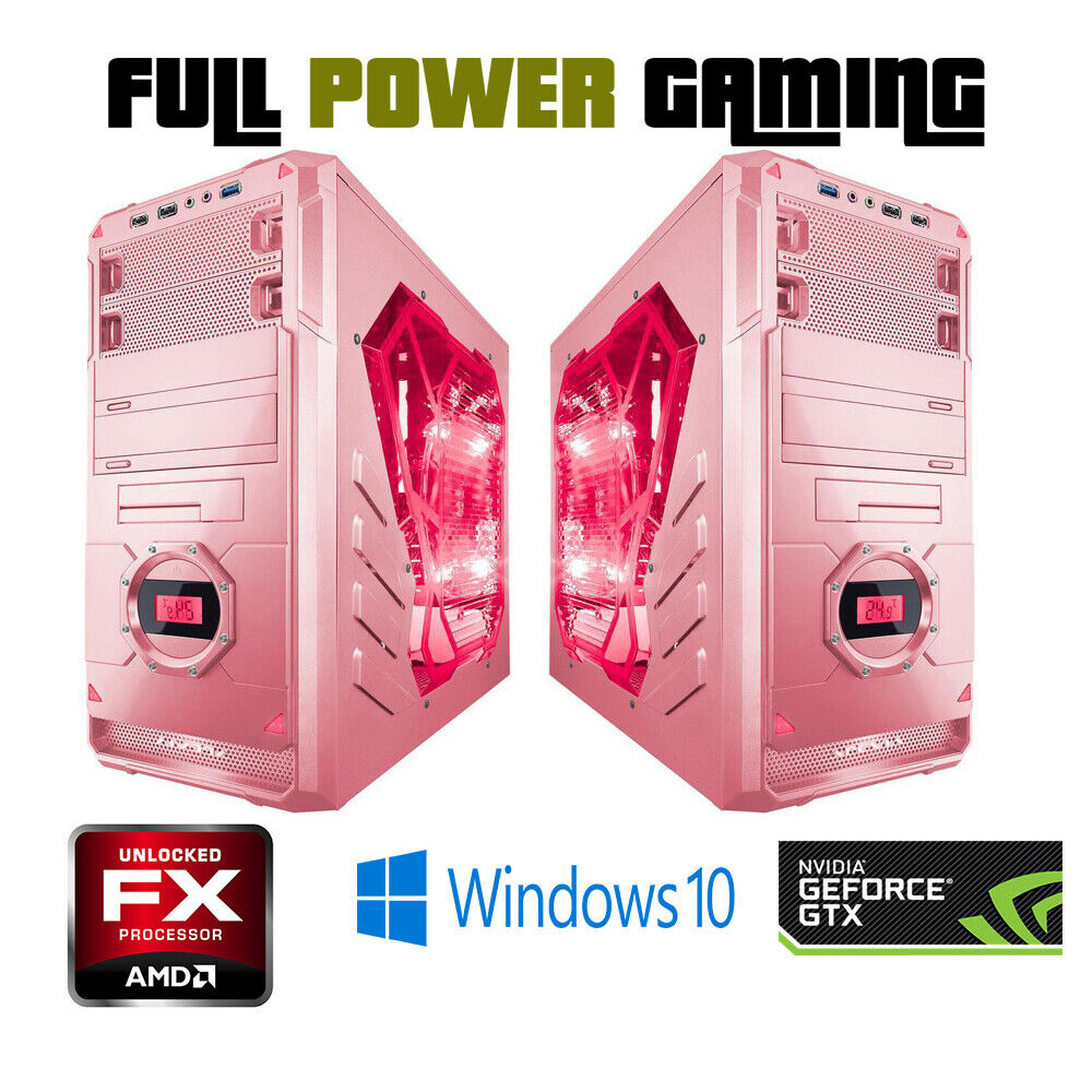 custom built gaming desktop pc amd fx