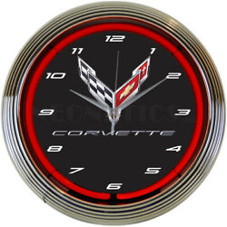 Corvette C8 Next Generation Home Décor Light 15 Neon Clock
