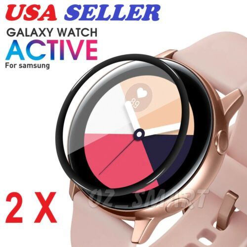 2PCS Soft Glass Full Coverage Screen Protector For Samsung Galaxy Watch Active 2
