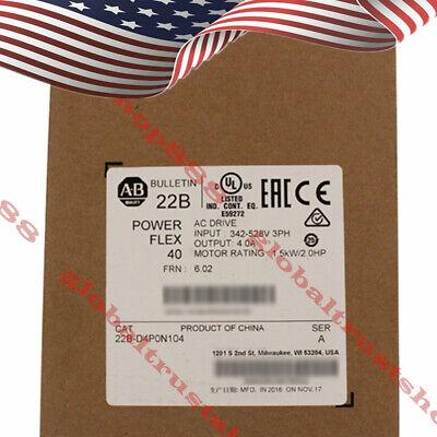 Allen-bradley Powerflex 40- 1.5 Kw 2 Hp Ac Drive 22b-d4p0n104 Us Warehouse Fast
