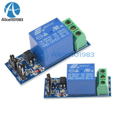 5pcs 12v One 1 Channel Relay Module Optocouple Board Shield For Pic Avr Arduino