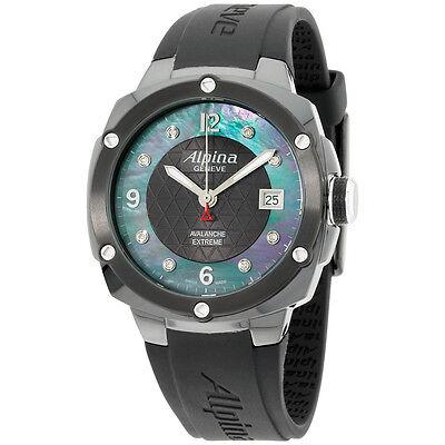 Alpina Black Dial Black Silicone Strap Men's Watch AL240MPBD3FBAEC6