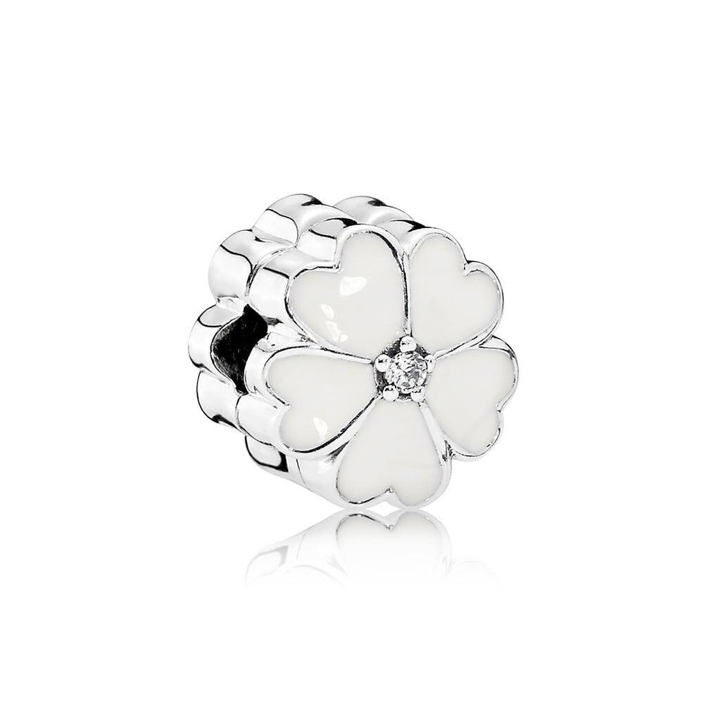 PANDORA White Primrose Clip Item #791822EN12 - RRP £50