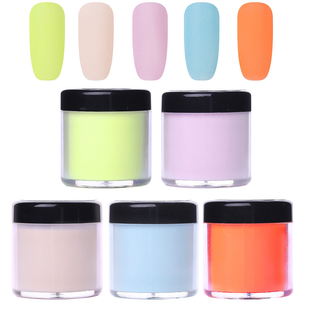 5Bottles/Set NICOLE DIARY Dip Dipping Acrylic Powder Glitter Powder French Tips